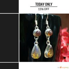 Today Only! 15% OFF this item. Follow us on Pinterest to be the first to see our exciting Daily Deals.  Today's Product: Sale -  Dominican Blue Amber Dangle Earrings Sterling Silver Teardrop Round Caribbean Dream Green Purple stone 925 OOAK.  Buy now: https://orangetwig.com/shops/AABCLyV/campaigns/AACI4eY?cb=2016003&sn=MyBeachStore&ch=pin&crid=AACI4eA&exid=266663506