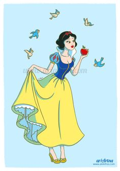 Snow White, Disney princesses collection by ariartna on deviantART