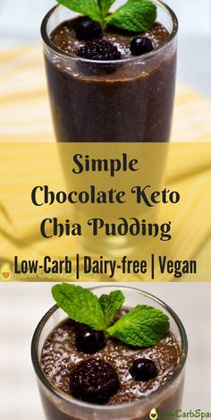 Simple Chocolate Keto Chia Seed Pudding Simple Chocolate Keto Chia Pudding Vegan Keto Chocolate Keto Chia Pudding is the best keto breakfast, packed with fiber, healthy fats and high-quality protein. Keto Chia Pudding is a simple recipe that will help you Keto Chia Pudding, Chocolate Chia Seed Pudding, Pudding Recipes, Chai Pudding, Protein Pudding, Best Chia Seed Pudding, Chia Pudding Coconut Milk, Pudding Corn, Overnight Chia Pudding