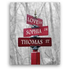 Personalized Signs Of Love 16 inch x 20 inch Canvas, Color, Multicolor