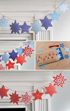Starburst Garland\u20144th of July style!
