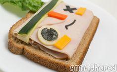Non-bento #50: Tearaway (atoi & iota) turkey sandwich