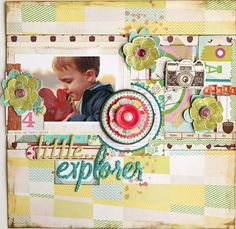 #papercraft #scrapbook #layout Christine Middlecamp - Crate Paper - Acorn Avenue