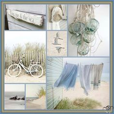 Collages, Mint Decor, Am Meer, Style Challenge, Photography Projects, Beach House Decor, Color Pallets, Coastal Living, Mood Boards