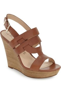 I think I need these Sole Society 'Jenny' Slingback Wedge Sandal (Women) available at #Nordstrom