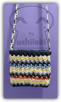 By Uchiloki: Striped T-Shirt Yarn Bag