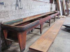 22 foot long Vintage Rock-Ola Shuffleboard Table