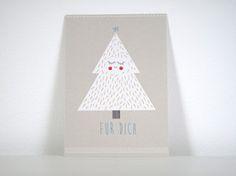 P013 Postkarte Tannenbaum Postkarte im Din A6 Format gedruckt auf hochwertigem Recyclingpapier.  1,50 € inkl. MwSt., zzgl. Versandkosten