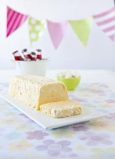 lemon meringue ice cream. I made this last year, so good. perfect summer Christmas dessert. Don't forget to tip the ice cream out on to a plate before slicing. The syrup will melt and drizzle down, yum!