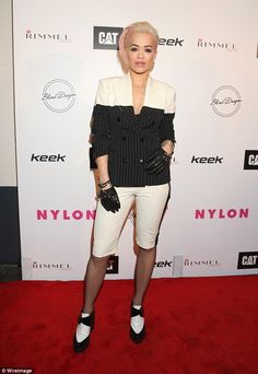 Cover girl! Rita Ora attended the NYLON Magazine's Spring Fashion Issue Celebration party ...