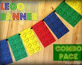 PDF: Combo Pack - Small, Medium and Large Lego Pattern Templates - Bricks - Printable