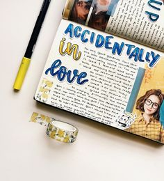 Just finished accidentally in love and it was so good! It's on netflix if y'all wanna check it out. Don't read what I wrote if you don't… Bullet Journal Cover Ideas, Bullet Journal Banner, Love Journal, Bullet Journal Notes, Study Journal, Bullet Journal Aesthetic, Journal Covers, Art Journal Pages, Stabilo Boss