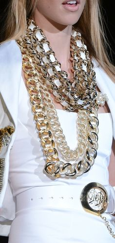 Giant chain necklace.