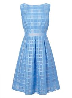 Organza Check Prom Dress