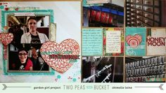 Glitter Girl Adventure 055: The Art of Fabrication - Two Peas in a Bucket  Adding fabric to 12x12 and divided pages to bring texture to your albums.  Perfect if you also sew and end up with remnants.