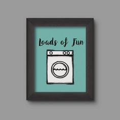PRINTABLE digital artwork laundry room by WhiteTreeDesignsShop