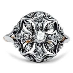 I lovethe Maltese cross motif!  The Talasi Ring from Brilliant Earth.