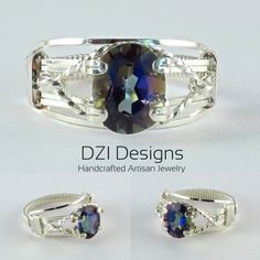Argentium Silver Prong Ring with a Purple Passion Topaz Gemstone