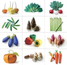 paper craft vegetable for DI special day - will learn on maternity leave