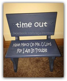 Handmade wooden toddler time out chairbench by AgainstTheGrainLLC