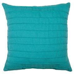 Outdoor Pillow - Turquoise Pleated - Threshold™ : Target