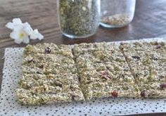 No baking skills required for this quick and delicious seedy slice. Full of energy giving seeds, dates and coconut oil, it's the perfect snack. My Favorite Food, Favorite Recipes, Healthy Recipes, Healthy Food, Sugar Free, Coconut, Snacks, Food Ideas, Baking