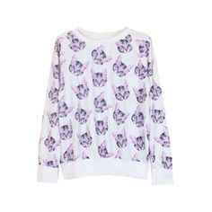 Cat Head Print White Pullover.White pullover, featuring a scoop neck and long sleeves, little cat head print to the main, ribbed details to the cuffs and the hem. Soft wearing and high street style design. - See more at: http://pariscoming.com/en-cat-head-print-white-pullover-p149270.htm#sthash.nyLyawd7.dpuf