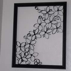 Toilet Paper Wall Art - Faux Wrought Iron Wall Art For Under $5
