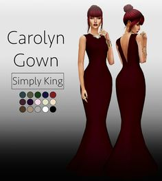 Sims 4 CC's - The Best: Carolyn Gown by SimplyKing