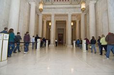 Supreme Court - Self-guided tours from 9 am-4:30 pm, just pass through security and walk around on your own. There are docent led courtroom lectures every hour on the half hour up until 3:30 pm.