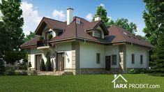 Проект будинку з житловою мансардою, двома гаражами та терасою Mansions, House Styles, Home Decor, Home Layouts, Pretty, Pictures, Mansion Houses, Homemade Home Decor, Manor Houses