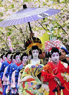 Oiran Dochu Festival in Asakusa, Japan