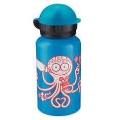 Deze Kukuxumusu aluminium drinkfles Inktvis van het merk Laken is leuk en handig voor op school of onderweg. Inhoud: 350ml