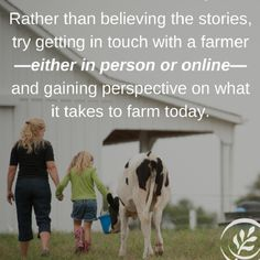 Firsthand perspective matters. Get info from people with their hands on your food, not activists.