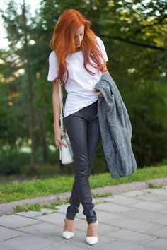 Maxinne in MiH Jeans Leather Pants