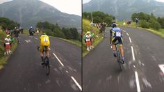 Pic: Froome and Contador show their different styles #TDF