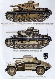 German Panzer Armee Afrika vehicles