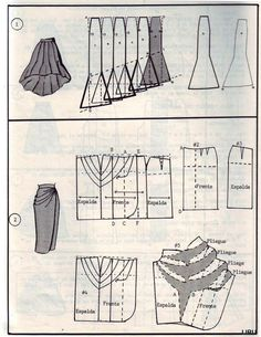 Modeling skirts - skirts model options with drawings