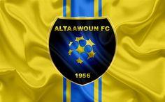 Download wallpapers Al-Taawon FC, 4K, Saudi Football Club, logo, emblem, Saudi Professional League, football, Buraydah, Saudi Arabia, silk texture