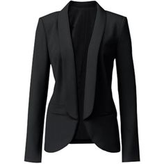 Trouve Open Front Blazer Large found on Polyvore