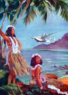 Retro Hawaii.