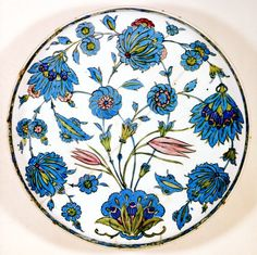 Selcuk And Ottoman Pottery, Shallow Dish, Louvre Islamic Tiles, Islamic Art, Ottoman, Potters Clay, Religion, Louvre, Turkish Art, Vintage Plates, China Painting