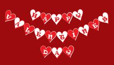 80%OFF Heart Valentines Printable Banner and by JustAnArtStore