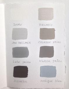 Kalklitir, colour-samples.. handpainted ;)