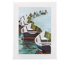 Boston Interiors | Boats on a Mooring, 24 x 26 artwork