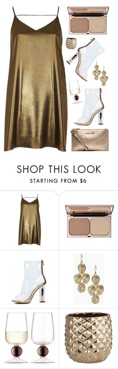 """""""(G)old"""" by agnelija ❤ liked on Polyvore featuring River Island, Charlotte Tilbury, Lucky Brand, LSA International, CB2 and MICHAEL Michael Kors"""