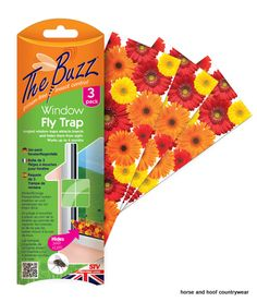 STV International Window Fly Trap Angle trap design collects dead flies and flying insects and hides them from sight Easy set-up with long lasting adhesive.