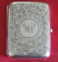 Stunning Solid Silver George V Cigarette Case Birmingham 1912 Henry Williamson   eBay