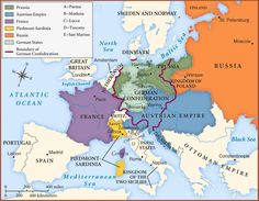 Congress of Vienna Map 1815