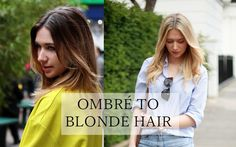 ombre to blonde hair